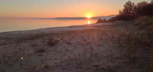 Saginaw Bay Sunrise over the Beach