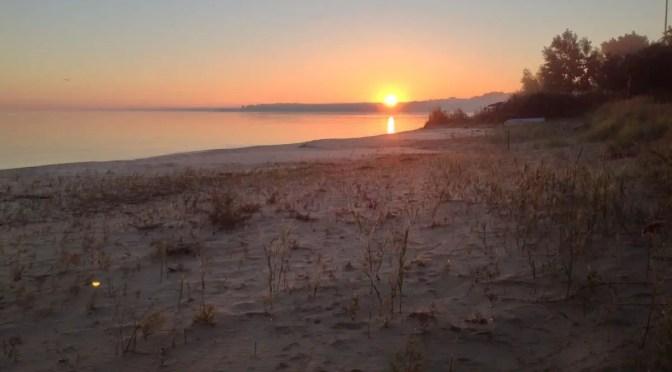 Saginaw Bay Sunrise over the Beach