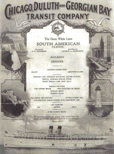 Menu of the SS South American