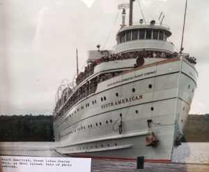 SS South American at Mott Island Isle Royale