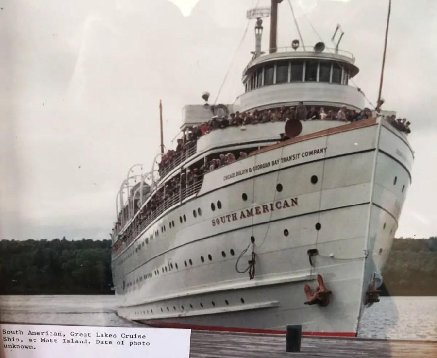 SS South American at Mott Island Isle Royale