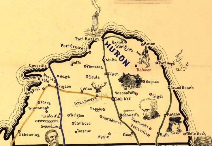 Huron- Railway Map