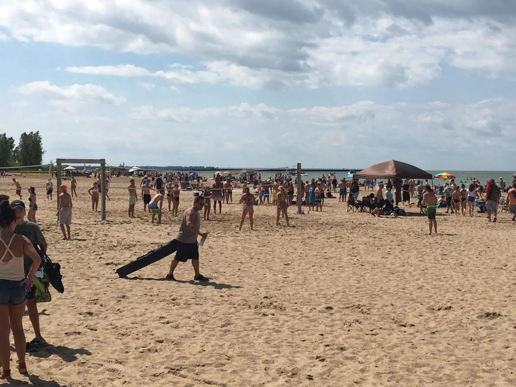 Caseville Beach Crowd