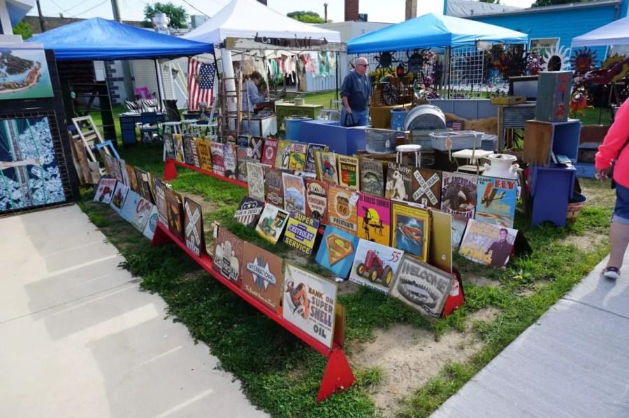 Port Austin Farmers Market Outdoor Stand