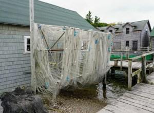 Fishtown nets drying - Fishing nets drying on the docks of Fishtown