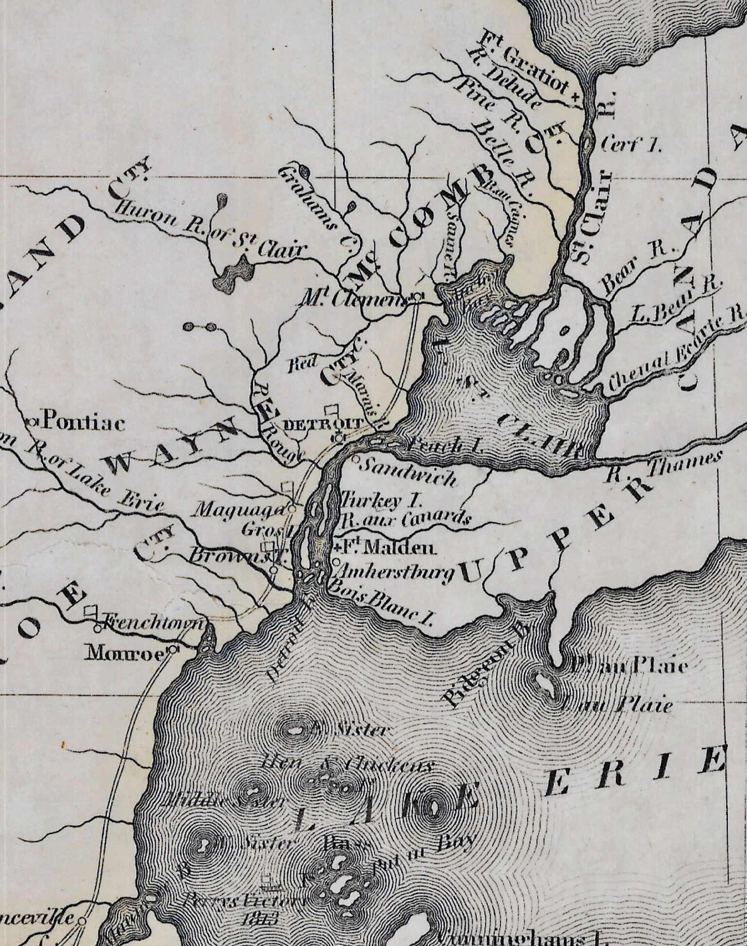 Michigan Territory Map 1822