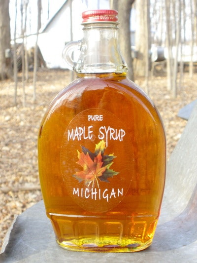 12oz Bottle of Battel's Pure Maple Syrup
