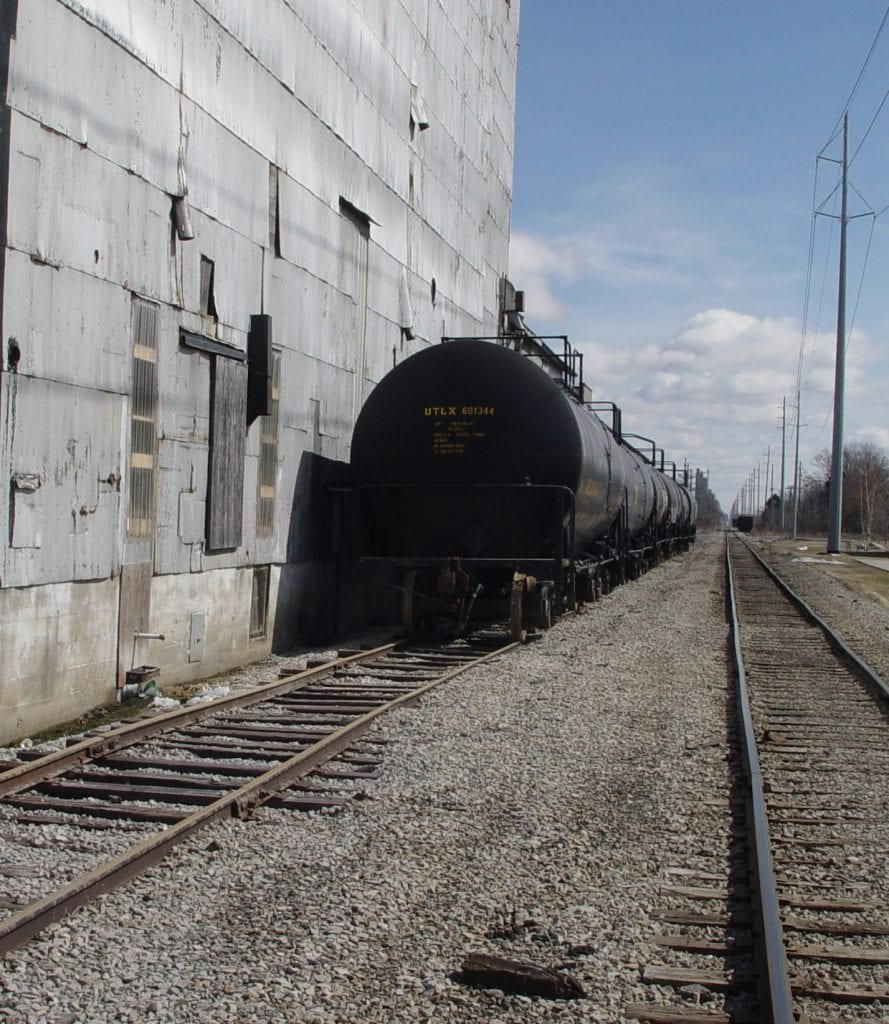 Train Tracks and Elevator in Elkton
