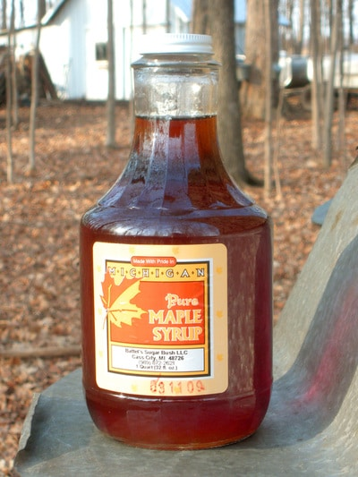 Quart Bottle of Battel's Pure Maple Syrup