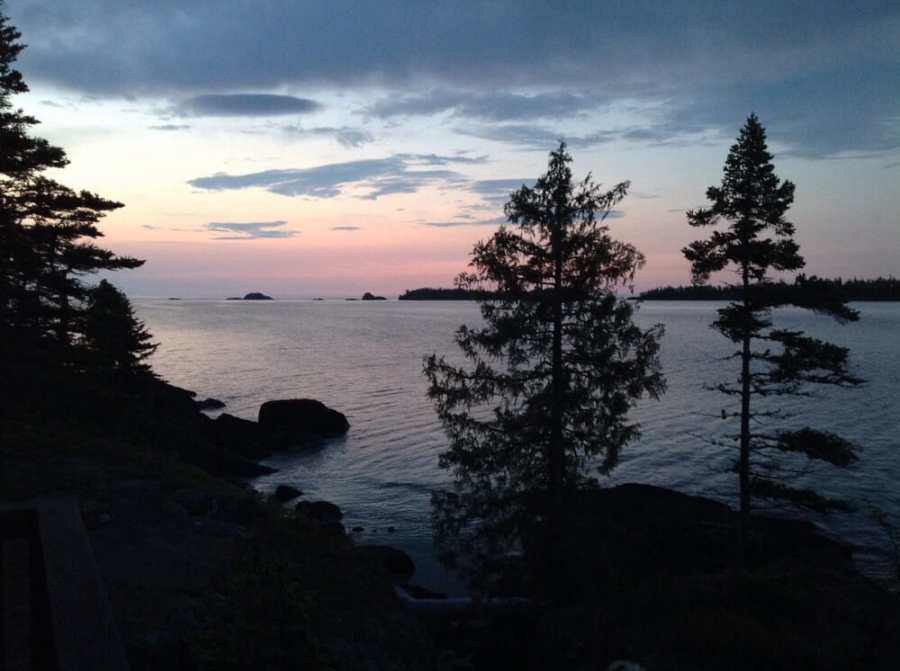 View from Rock Lodge on Isle Royale