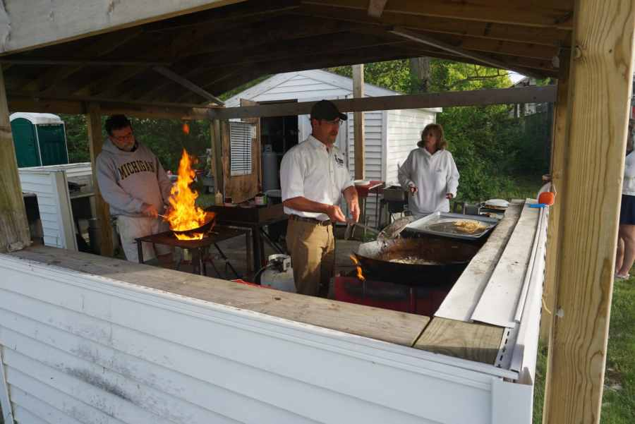 Charity Island Cooks Keep Busy