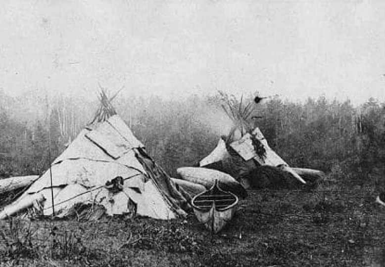 Anishinaabe Camp 1870