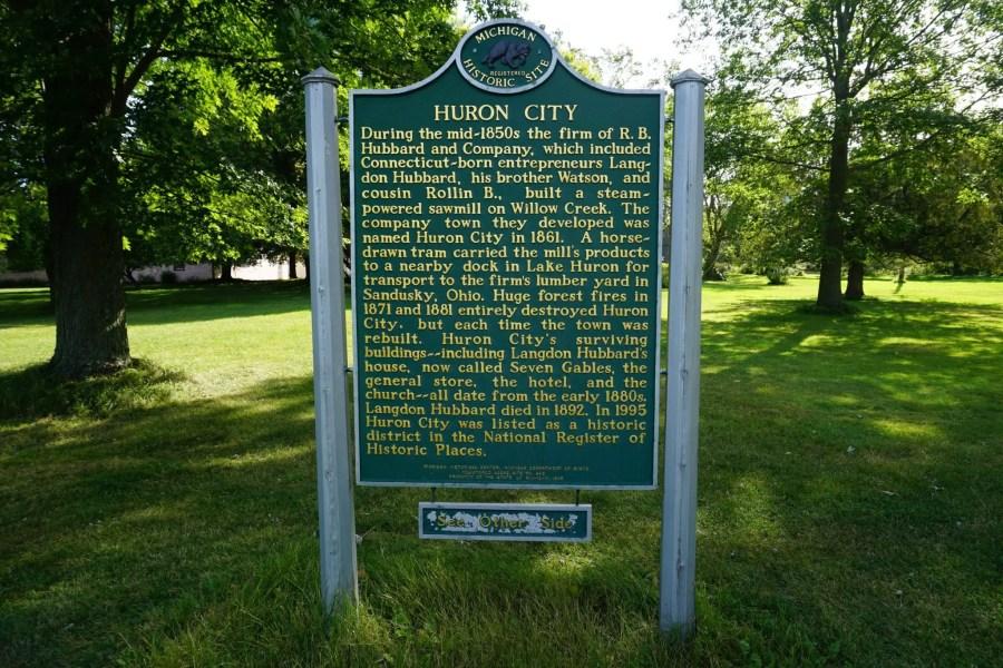 Huron City Historic Sign