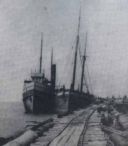 Steamers Loading Sand at the docks