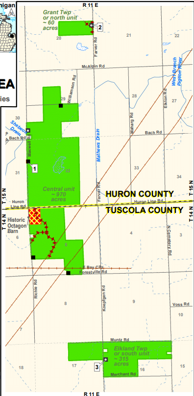 Gagetown State Game Area - Deer Hunting in Huron County
