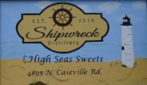 Shipwreck Distillery Sign