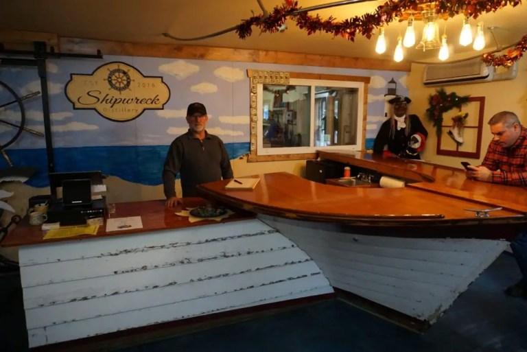 Shipwreck Distillery Tasting Bar