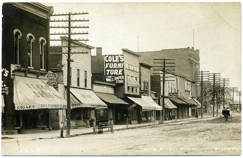 Bad Axe Street in the early 1900s