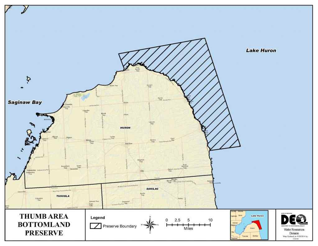 Thumb Area Underwater Preserve - Michigan Shipwrecks- lake huron shipwreck map