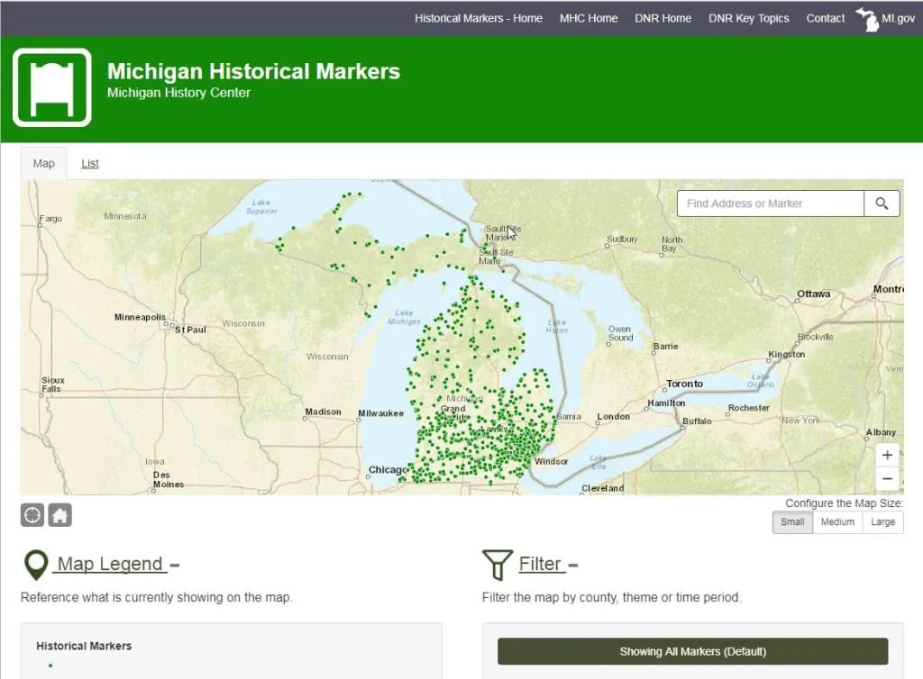 Michigan Historical Marker Website