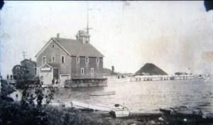 Life Saving Station At Huron Milling Dock Harbor Beach 1929