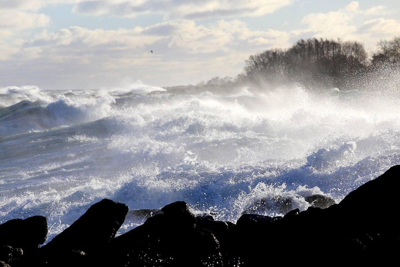 Large Waves and Spray
