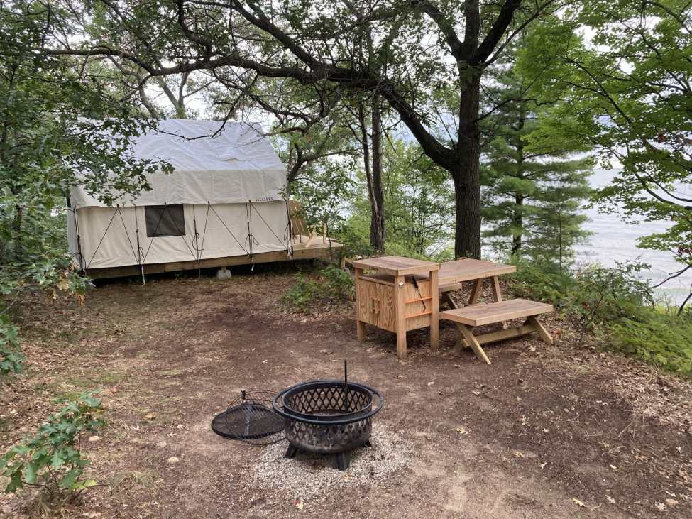 Camping on the Beach at Sleeper State Park