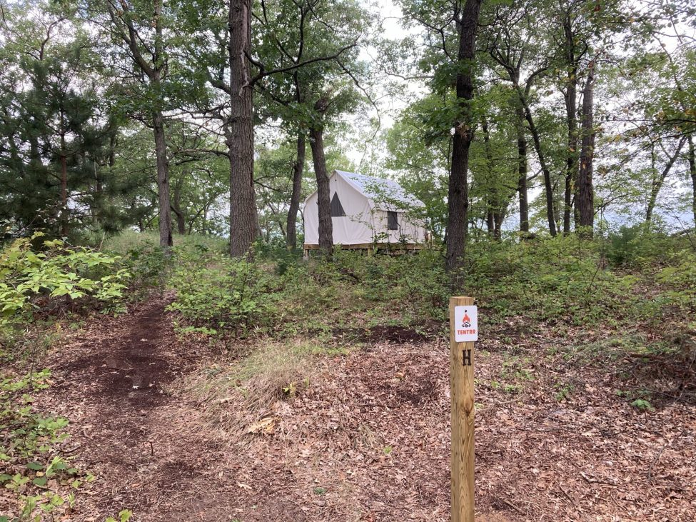 Glamping Site in Woods Near Beach at Sleeper State Park