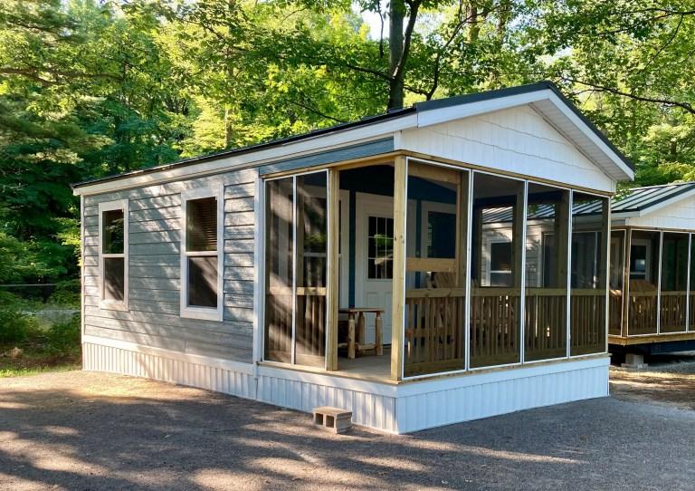 Port Crescent State Park camper cabin