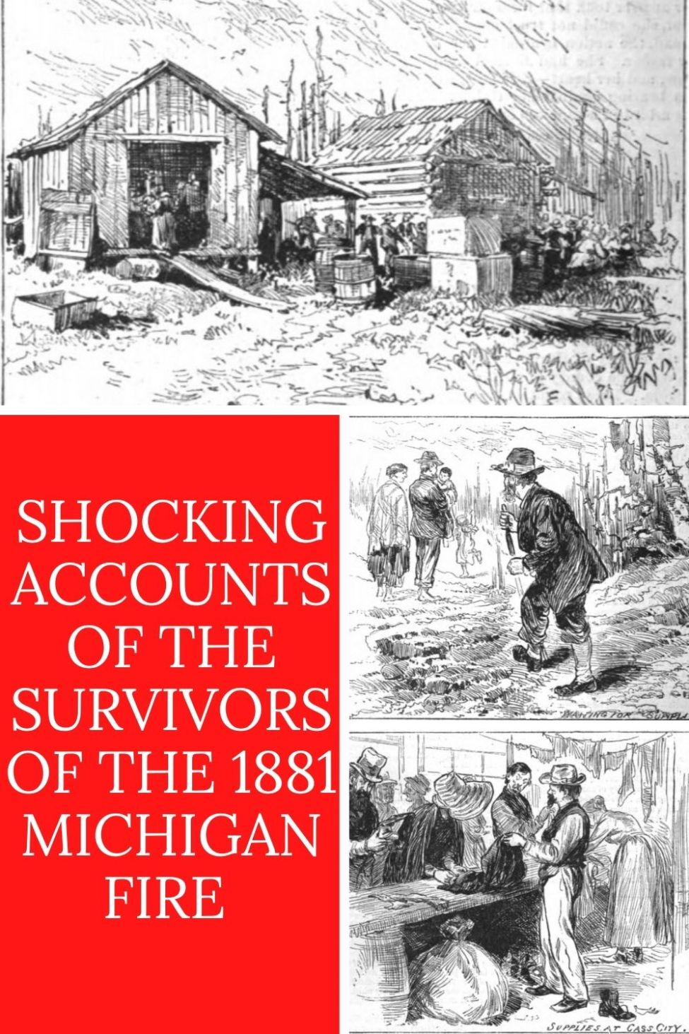Shocking firsthand accounts of the Great Michigan Fire of 1881 from residents of Minden and Ubly. They were first published by the Minden Post soon after the fire and reprinted by many newspapers  nationally. These accounts have never been published online before. Courtesy of the Minden City Herald. #PureMittenPride #MittenStateLove #Survival #Michigan #FindYourWild #OptOutside #GreatLakesState #PureMichigan #MichiganLove