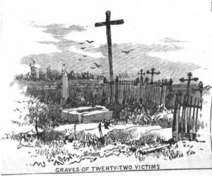 Great Michigan Fire 1881- Graves of 22 Victims