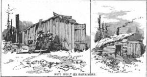 Great Michigan Fire 1881 - Huts Built By Survivors