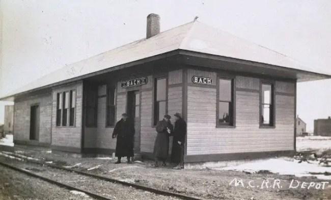 Michigan Central Railroad Depot at Bach