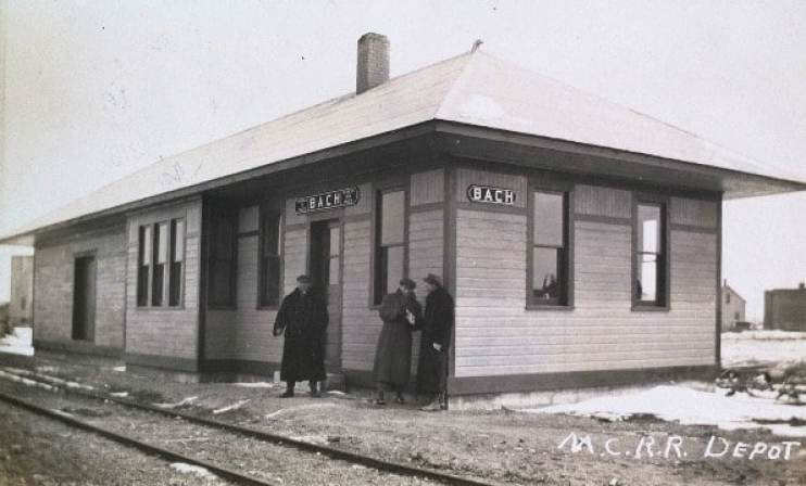 Michigan Central Railroad Depot at Bach