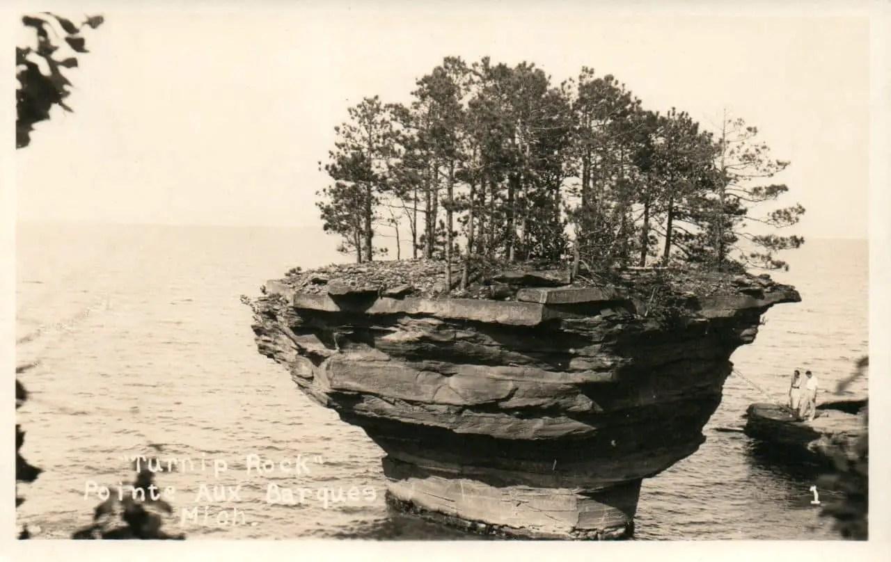 pointe aux barques postcard