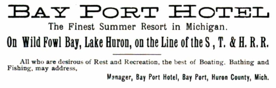Ad of the Bay Port Hotel