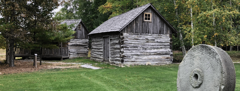 Leavine Cabin and Barn From Port Austin Historical Society FB Page