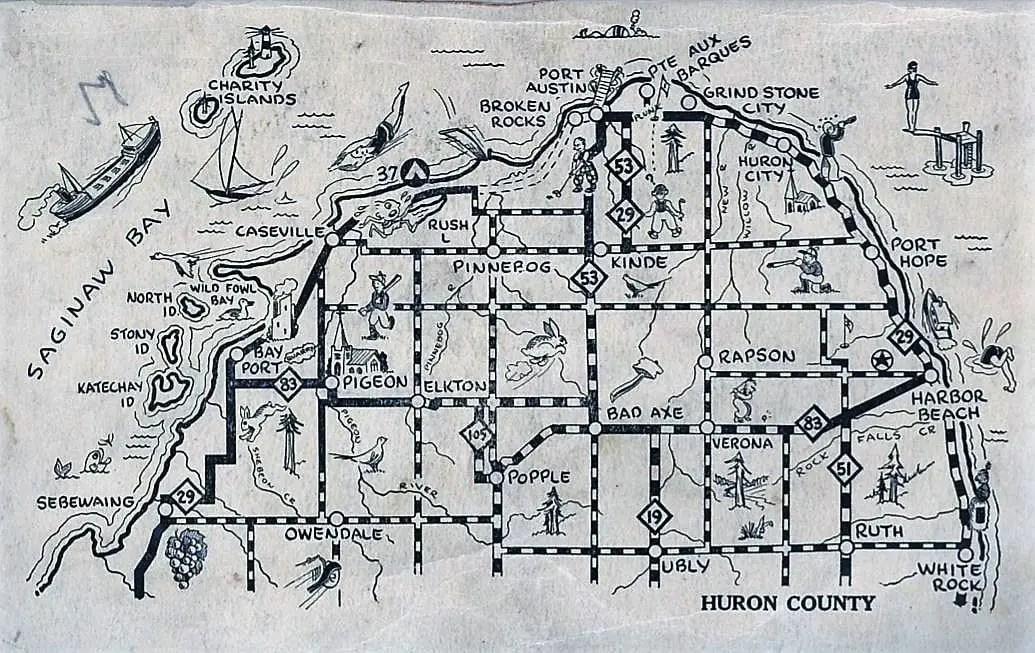 Huron County Map 1932