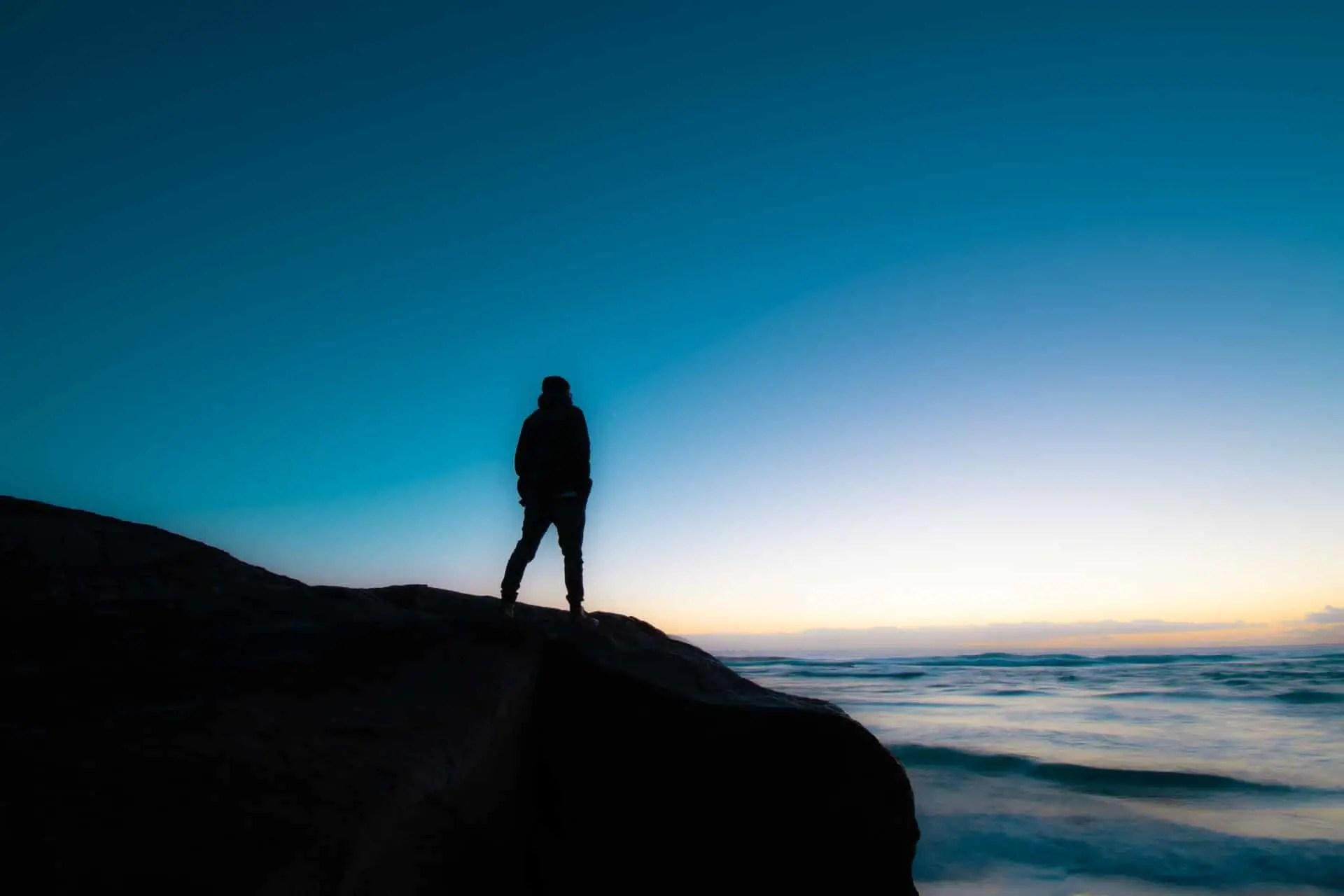 Man Overlooking Sea