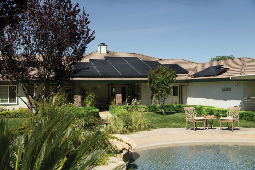 Home with Solar Panels on Roof - How Much Solar Power Do I Need