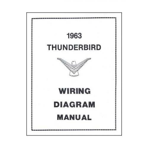 Thunderbird Wiring Diagram Manual, 17 Pages, 1963