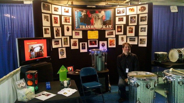 Kevin at 2016 Chicago Drum Show booth