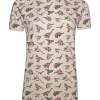 Run & Fly Dinosaur Print T-Shirt in Stone