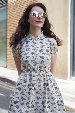 Run & Fly - Stone Dinosaur T-shirt Dress