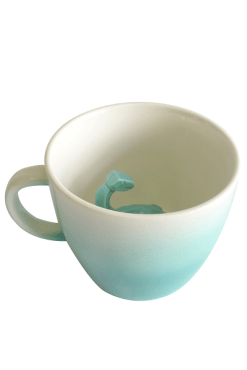 House of Disaster Turquoise Ombre Dinosaur Cup