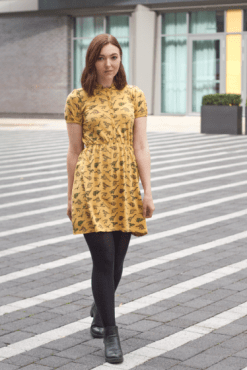 Run & Fly - Honey Gold Dinosaur T-Shirt Dress