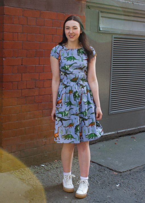 Run & Fly - Blue Dinosaur Dress