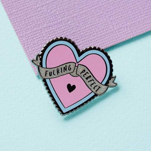 Punky Pins - Fucking Perfect Heart Enamel Pin
