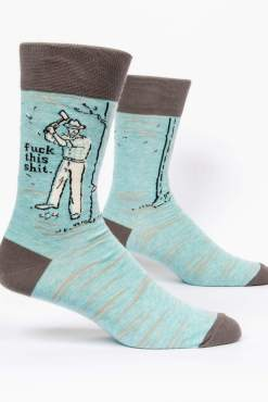 Blue Q - Fuck this Shit Men's Crew Socks