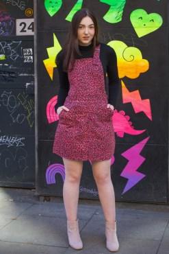 Run & Fly - Pink Leopard Print Pinafore